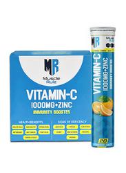 Muscle Rulz Vitamin-C Immunity Booster, 1 Unit, 20 Effervescent Tablets, Orange