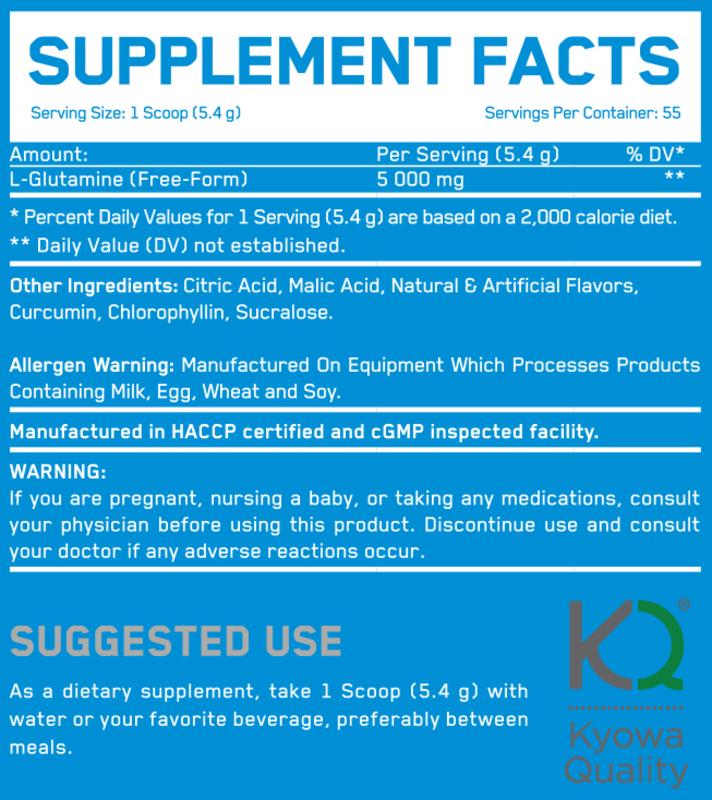 Everbuild Nutrition Pure Glutamine 5000, 300g, Sour Apple Punch