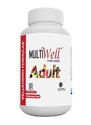 Wellknown Formulas Multiwell Adult Mineral & Vitamin Supplement, 60 Tablets, Regular