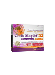 Olimp Labs Chela-Mag B6 + D3 Supplement, 30 Capsules, Regular