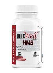 Wellknown Formulas Bulkwell HMB, 120 Capsules, Regular