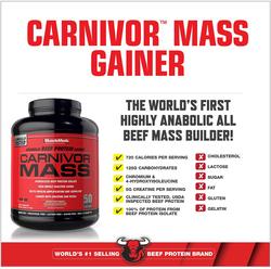 Muscle Meds Carnivor Mass, 4.4 Lbs, Chocolate Fudge