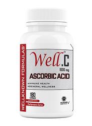 Wellknown Formulas Well.C Ascorbic Acid, 1000mg, 180 Capsules, Regular