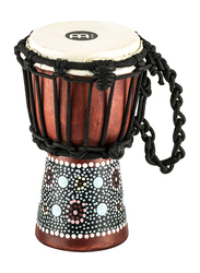 Meinl HDJ8XXS African Style Flower Design Goat Head Djembe, Brown