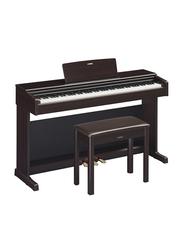 Yamaha YDP-144 Arius Series Digital Console Piano GHS Keyboard 88 Keys with Black Key Tops, CFX Sound, Rosewood