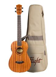 Flight DUB38MAH Soundwave Baritone Ukulele, Techwood Fingerboard, Brown