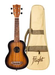 Flight NUS380AMBER Soprano Ukulele, Walnut Fingerboard, Brown