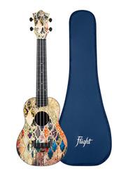 Flight TUC-40 Granada Concert Travel Ukulele, ABS Fingerboard, Multicolor