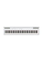 Yamaha P125 Weighted Digital Piano, Stereophonic Optimizer, 88 Keys, White
