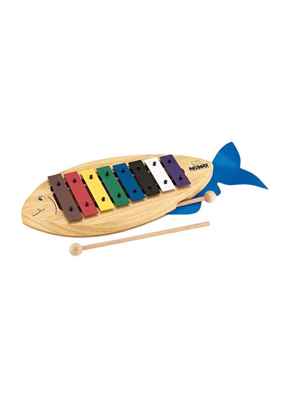 Nino NINO901 Fish-Shaped Design Glockenspiel, Multicolor