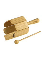 Nino NINO556 Wood Stirring Drum with Handle and Beater, Natural Finish