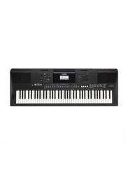 Yamaha PSR EW410 Portable Keyboard, 76 Keys, 758 Voices, Black