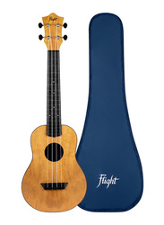 Flight TUC-55 Mango Concert Travel Ukulele, ABS Fingerboard, Brown