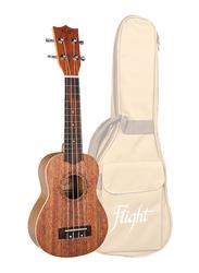 Flight DUS321 Soprano Ukulele, Walnut Fingerboard, Brown