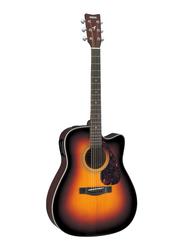 Yamaha FX370CTBS Electro Acoustic Guitar, Rosewood Fingerboard, Brown