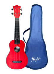 Flight TUS35 Soprano Travel Ukulele Aquila Strings, ABS Fingerboard, Red