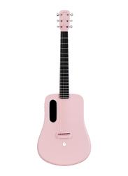 Lava Music ME 2 Freeboost Semi Acoustic Guitar, HPL Fiberboard, Pink