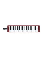 Yamaha P37D Pianica Keyboard Wind Instrument, 37 Key, Red