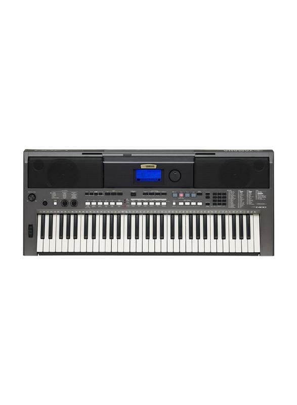Yamaha PSR-I400 Portable Keyboard, 61 Keys, 998 Voice, 218 Styles, Metallic Dark Grey
