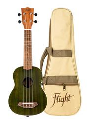 Flight NUS380JADE Soprano Ukulele, Walnut Fingerboard, Green