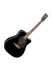 Yamaha FX370CBLK Electro Acoustic Guitar, Rosewood Fingerboard, Black