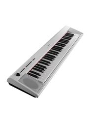 Yamaha NP-12 Portable Keyboard, 8W, Piano Style Keyboard, 61 Keys, White