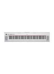 Yamaha NP-32 Portable Keyboard, 18W, Piano Style Keyboard with Graded Soft Touch, 76 Keys, White