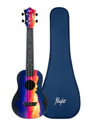 Flight TUC-EE Sunset Concert Travel Ukulele, ABS Fingerboard, Blue