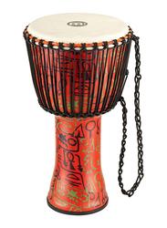 "Meinl PADJ1LG African 12"" Pharaoh's Script Medium Djembe, Red"