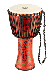 "Meinl PADJ1LG African 12"" Pharaoh's Script Medium Djembe, Red"