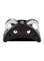 Meinl CFJS2SBK Compact Foot Tambourine, Black