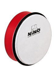 "Nino NINO4R 6"" Plastic Hand Drum, Synthetic Head, Red"