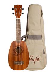 Flight NUP310 Pineapple Soprano Ukulele, Walnut Fingerboard, Brown