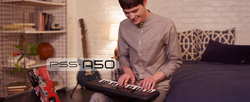 Yamaha PSS-A50 Touch Sensitive Portable Mini Keyboard, 37 Keys, Black
