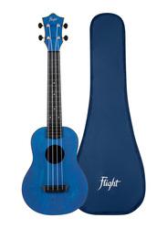 Flight TUC-35 Concert Travel Ukulele, ABS Fingerboard, Dark Blue
