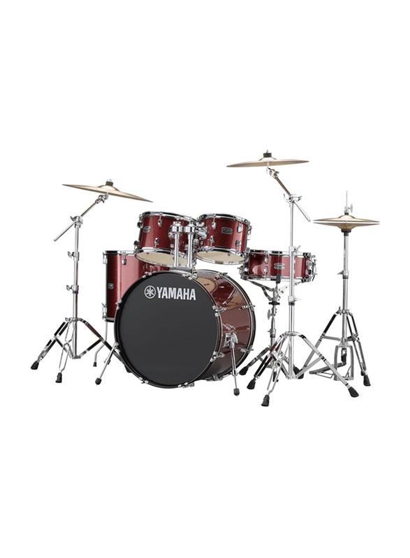 Yamaha RDP2F5 Rydeen Acoustic Drum Kit, Burgundy Glitter