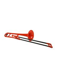 pBone Plastic Trombone, Ergonomic Design, Red