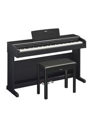 Yamaha YDP-144 Arius Series Digital Console Piano GHS Keyboard 88 Keys with Black Key Tops, CFX Sound, Black