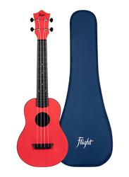 Flight TUC-35 Concert Travel Ukulele, ABS Fingerboard, Red