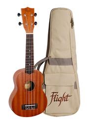 Flight NUS310 Soprano Ukulele, Walnut Fingerboard, Brown
