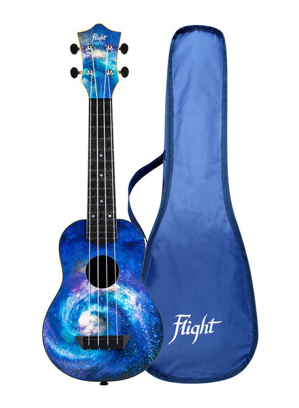 Flight TUS40 Space Travel Soprano Ukulele, ABS Fingerboard, Blue