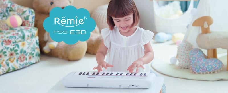 Yamaha PSS-E30 Portable Mini Keyboard with 37 Keys, 47 Voices, White