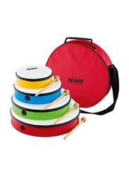 Nino NINOSET6 4-Piece Plastic Hand Drum Set, Multicolor