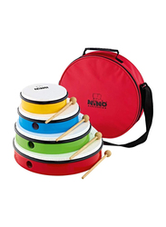 Nino NINOSET6 4-Piece Plastic Hand Drum Set, Multicolor