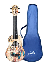 Flight TUS40 Granada Travel Soprano Ukulele Aquila Strings, ABS Fingerboard, Multicolor