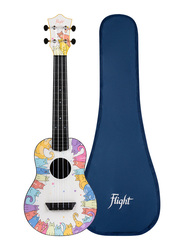 Flight TUC-KITTY Concert Travel Ukulele, ABS Fingerboard, Multicolor