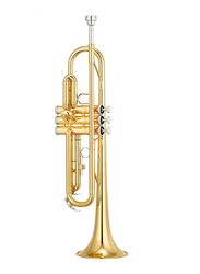 Yamaha YTR-2330 Bb Trumpets, Yellow Brass Bell, Piston Caps and Buttons, Gold Lacquer Finish