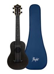 Flight TUC-35 Concert Travel Ukulele, ABS Fingerboard, Black
