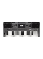Yamaha PSR-I500 Portable Keyboard with Adaptor and 61 Keys, 801 Voice, 282 Styles, Metallic Dark Grey