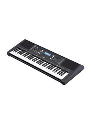 Yamaha PSRE373 Portable Keyboard, 61 Keys, Black